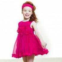 Fuschia Tulle Flower Dress