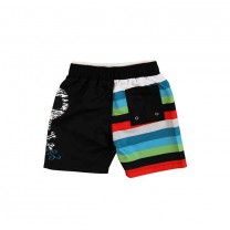 Stripes & Skull Swim Trunks