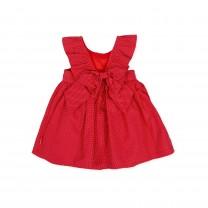 Red Ruffle & Flower Dress