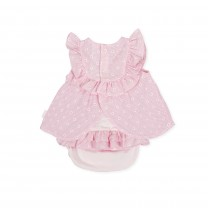 Pink Dots Ruffled Baby Dress
