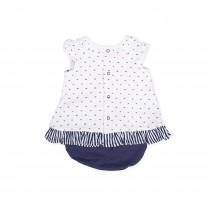White Ribbon Baby Dress