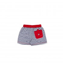 Navy & Red Stripe Boxers
