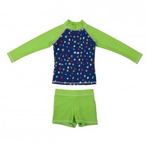 Blue and Green Dagny - Iggy 2-piece Swim Suit