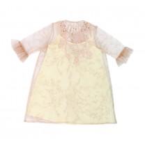 Soft Peach Raina Embroidered Dress