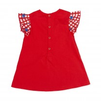 Red Gingham Butterfly Dress