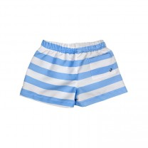 Ocean Blue Striped Anchor Swimming Shorts