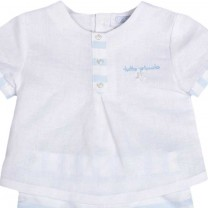 White and Blue Baby Set