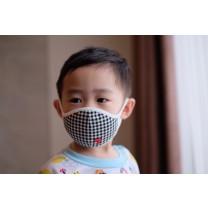 Black Gingham Premium Mask
