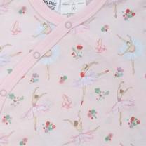 Short Onesie Ballerina Print