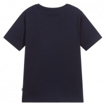 Navy Blue Logo Graphic T-Shirt