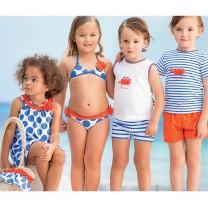 Blue Polka Dot & Frills Bikini