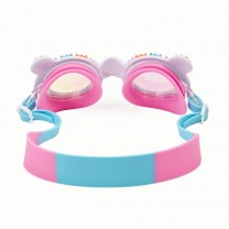 Cotton Candy PInk Blue Swim Goggles