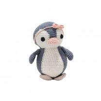 Penguin Crochet Toy with Peach Headband