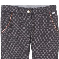 Grey Jacquard Pants