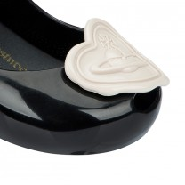 Vivienne Westwood Black Heart Jelly Shoes
