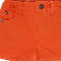 Orange Logo Button Shorts