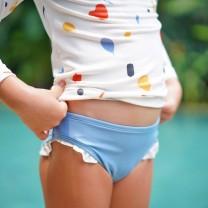 Blue Girls Bikini Bottom