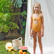 Yellow Girls Watermelon  Swimsuit
