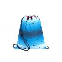 Blue Shark Drawstring Bag