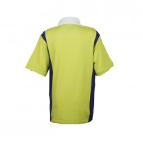 Lime Color Block Polo Shirt