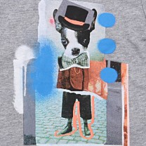 Grey Modern Art Print T-Shirt