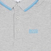 Light Grey Logo Polo Shirt