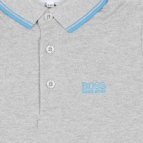 Light Grey Logo Polo Shirt (14-16 years)
