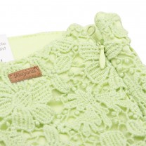 Green Flower Crochet Shorts