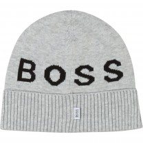 Light Grey Knitted Logo Hat