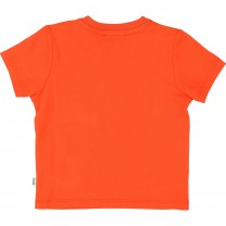 Baby Boys Orange Cotton T-Shirt