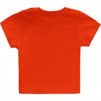Red Geometric Logo Baby T-Shirt