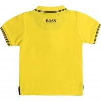 Yellow Square Logo Baby Polo Shirt