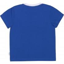 Two Tone Blue & White Logo Baby T-Shirt