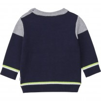 Navy Graphic Logo Baby Sweater