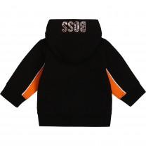 Black and Orange Hooded Jacket
