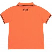 Orange Square Logo Baby Polo Shirt