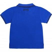 Electric Blue Square Logo Baby Polo Shirt