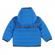 Electric Blue Reversible Puffer Jacket