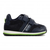 Navy Strap Baby Shoes
