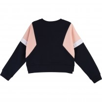 Blue & Pink Cropped Sweatshirt