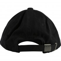Black Cotton Logo Cap