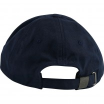 Navy Blue Cotton Logo Cap