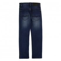 Blue Double-stonewashed Skinny-fit Jeans