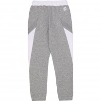 Grey and White Jogger Pants