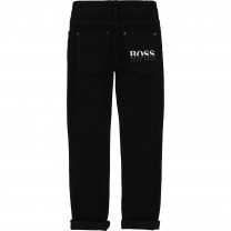 Black Logo Denim Pants