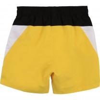 Yellow Side Yoke Swim Shorts