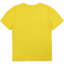 Yellow Logo Cotton T-Shirt