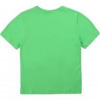Green Logo Cotton T-Shirt