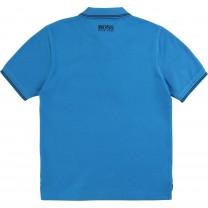 Blue Square Logo Polo Shirt  (14 years)