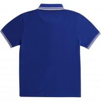 Navy Square Logo Polo Shirt